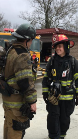 Jake Wilson (right) attending the Fire 1 certification program.