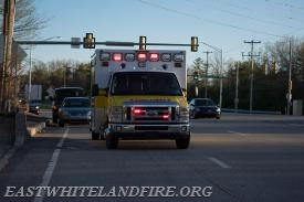Ambulance 5-1 responding to a vehicle accident.
