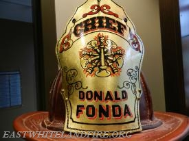 Chief Fonda was selected by FireHouse Magazine to receive this custom fire helmet.