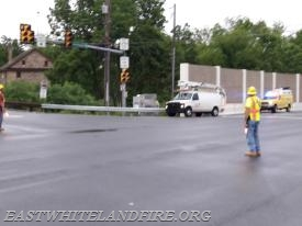 East Whiteland Fire Police directing traffic while traffic lights were out of service on Route 401.