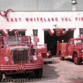 The first dedication, housing, and parade on Saturday September 11, 1960 at the East Whiteland Fire Company at 170 Planebrook Road in East Whiteland Township.