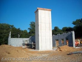 The elevator tower and walls were next as it started to take it's form.