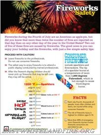 These important tips from the National Fire Protection Association concerning fireworks.