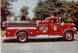 The bell was mounted on the new 1962 Autocar fire engine which was destroyed in a wildland fire in the spring of 1963.