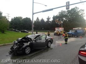 Traffic accident at Route 401 and Phoenixville Pike.