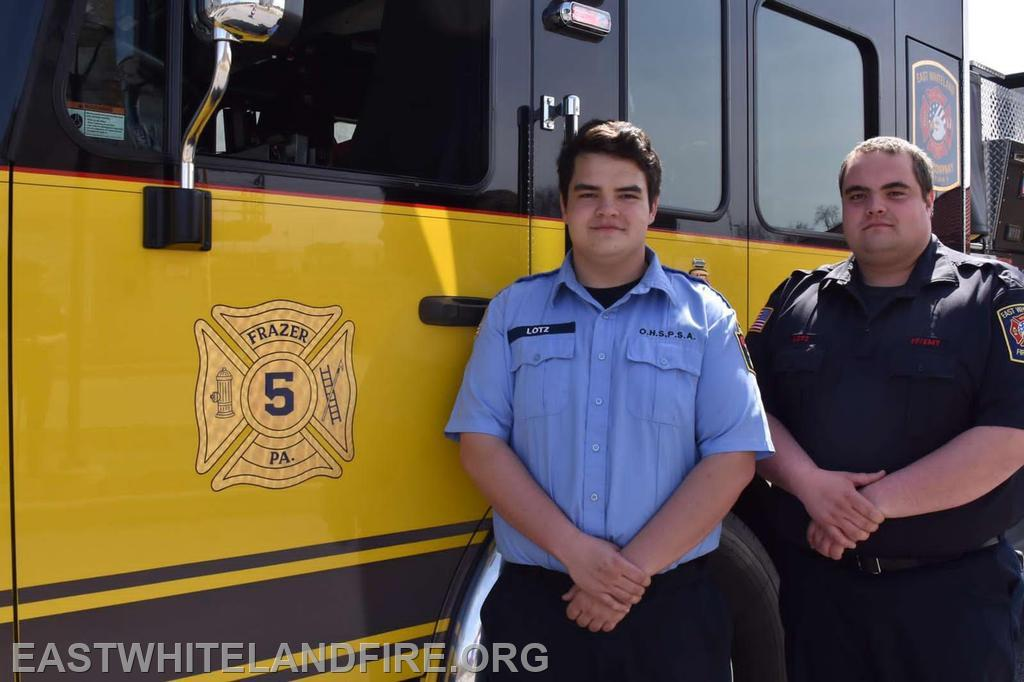 Cadet Dalton Lotz joined by his brother EMS Captain Quintin Lotz.